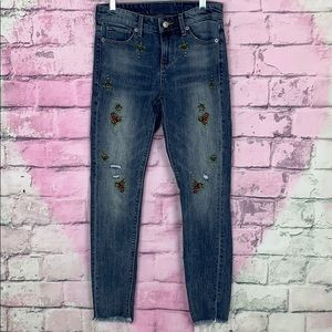 Lucky Brand Jeans - Lucky brand Ava skinny floral embroidered jeans 24